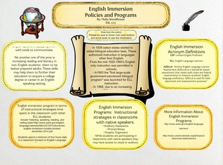 English Immersion Policies and Programs