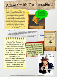 adam smith presidential poster