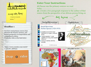 Imperialism Primary Source Formative Assessment