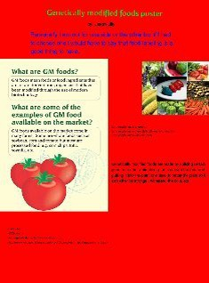 GM foods poster