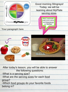MyPlate Serving Sizes