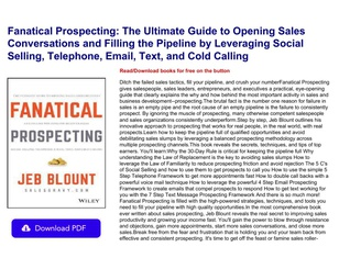 Pdf Download Fanatical Prospecting The Ultimate Guide To Opening Sales Conversations And Filling Th Text Images Music Video Glogster Edu Interactive Multimedia Posters