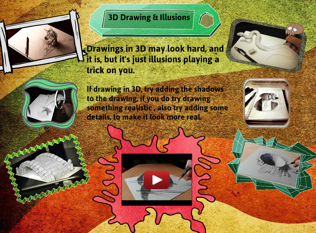 3D Drawing and Illusions