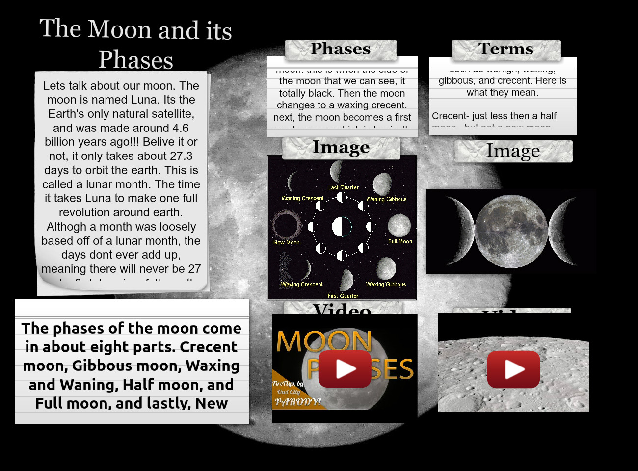 [2014] Alainna Toombs: The moon and its phases