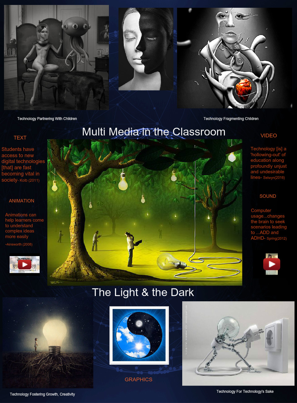 Multi Media in the Classroom: The Light and the Dark
