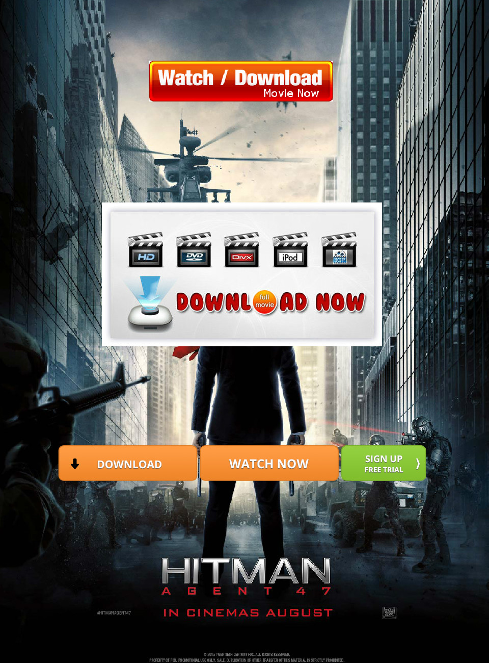 Download Hitman Agent 47 Movie Online Full In Hd Format 2015