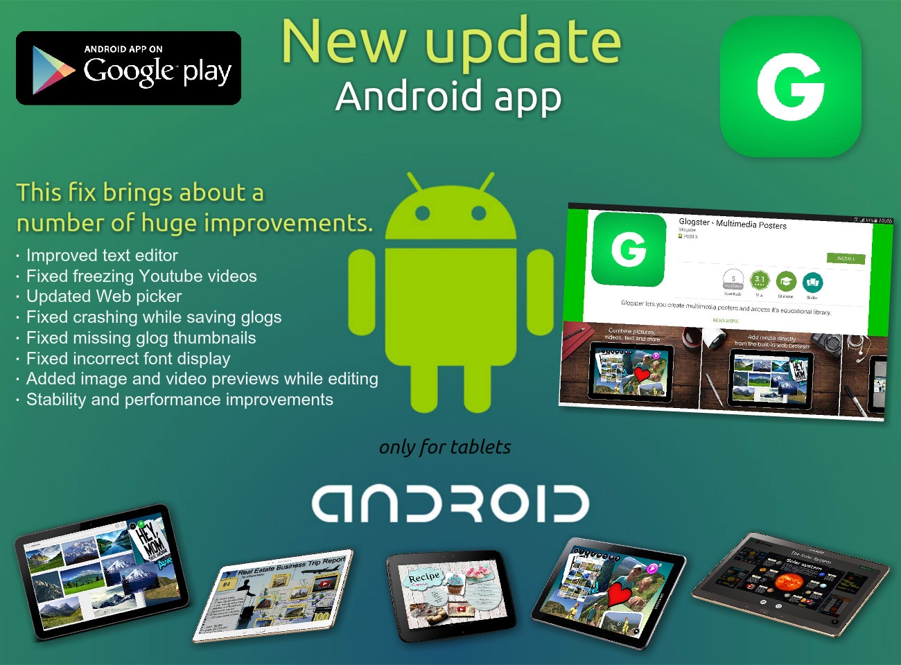 Glogster Android App