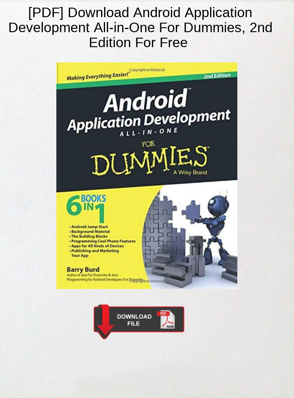 books for android application development free download