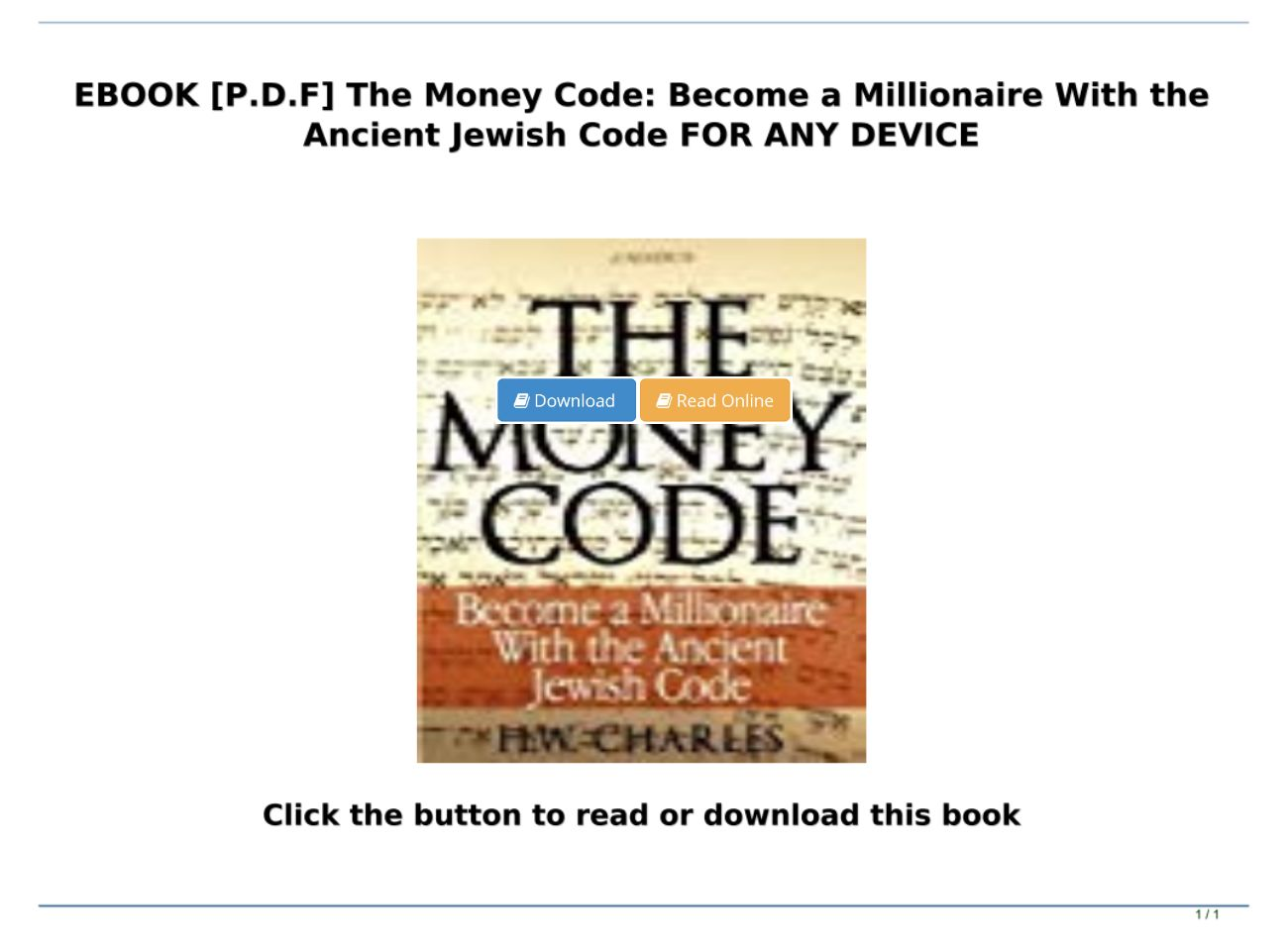 Ebook P D F The Money Code Become A