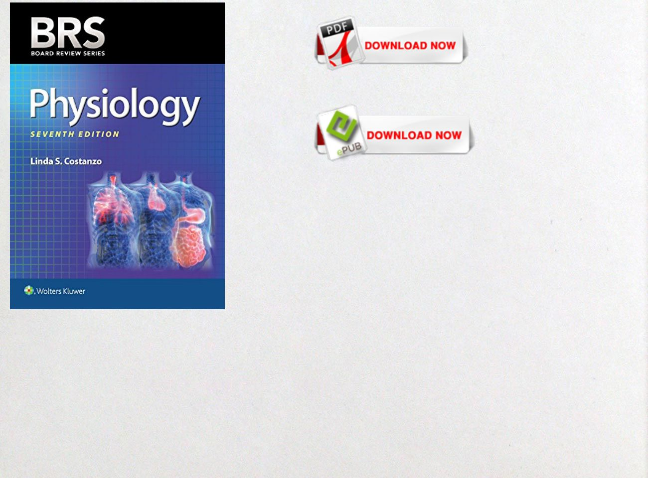 Free Download Pdf Ebook Brs Physiology Board Review Series Text