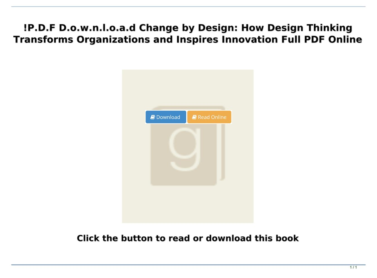 P D F D O W N L O A D Change By Design How Design Thinking Transforms Organizations And Inspires I Text Images Music Video Glogster Edu Interactive Multimedia Posters