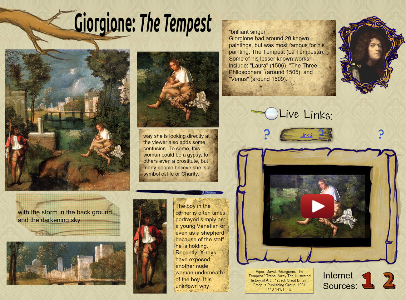 [2013] Kaleigh Merritt (The Word:  2013-2014, Default class, Art History 20132014): Giorgione: The T