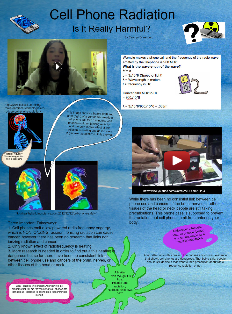 Carolyn G Cell Phone Radiation glog: text, images, music, video
