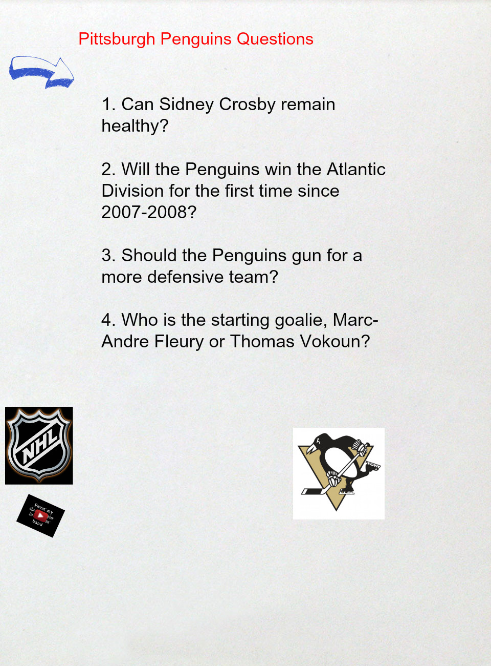 Pittsburgh Penguins Questions's thumbnail